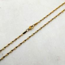 Женская цепочка из стали с покрытием крученное снейк 45 см/2 мм