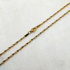 Женская цепочка из стали с покрытием крученное снейк