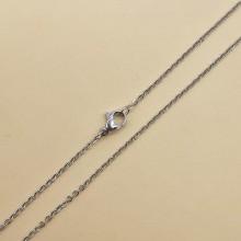 Цепочка из медицинской стали женская плетение якорное 48 см/1 мм