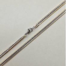 Цепь из двухцветной стали для мужчин Мефистофель 50 см/3 мм