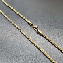 Стальная женская цепочка веревочное плетение 45, 50 и 60 см/3 мм