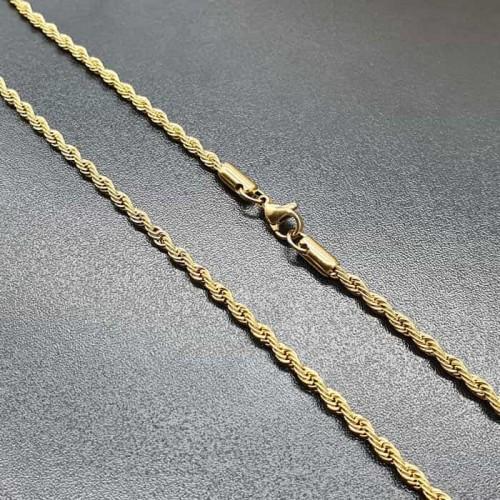 Стальная женская цепочка веревочное плетение в ассортименте 3 мм