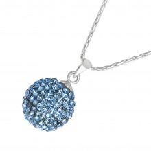 Кулон на шею со светло-голубыми кристаллами