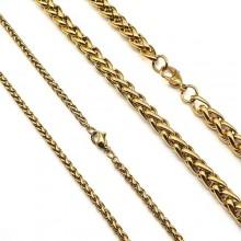 Цепь стальная плетение косичка 60 см/2,5 и 6 мм