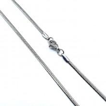 Цепочка стальная плетение снейк женская 45 и 50 см/1,5 мм