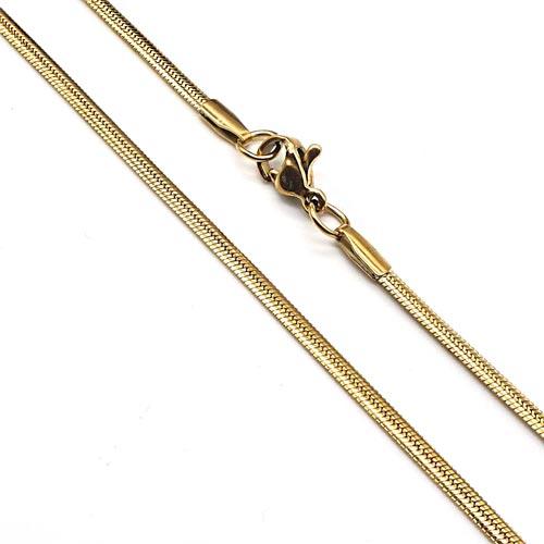 Цепочка из нержавеющей ювелирной стали плетение снейк 50 см/1,5 и 3 мм