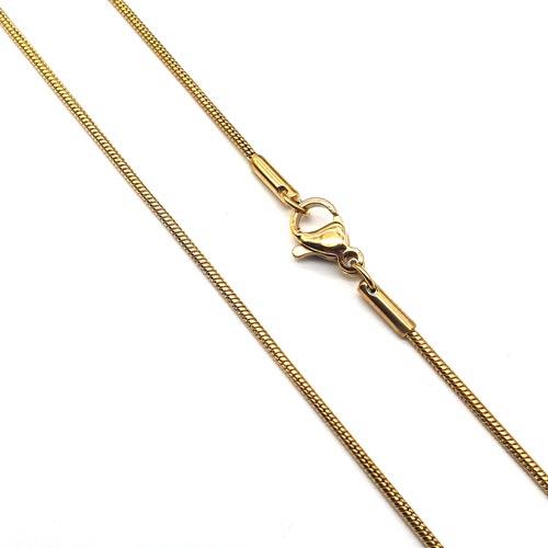 Женская цепочка на шею с плетением снейк 50 см/1,5 мм
