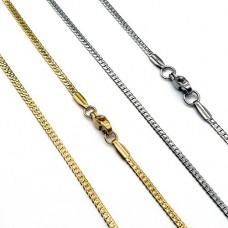 Цепочка из ювелирной стали панцирное плетение в двух цветах 50 см/2 мм