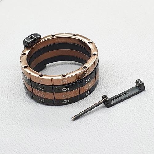 Кольцо из медицинской стали мужское Swatch Secret Code коричневое