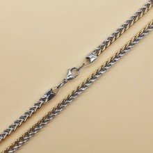 Цепочка из нержавеющей ювелирной стали мужская 61 см/6 мм