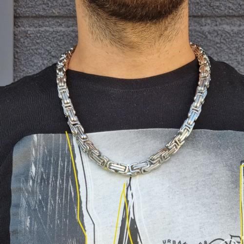 Массивная цепь для мужчин сложное плетение гипоаллергенная сталь