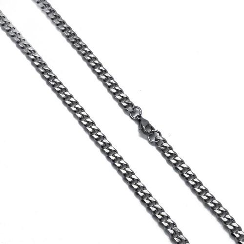 Мужская цепочка из стали панцирное плетение 60 см/5 мм
