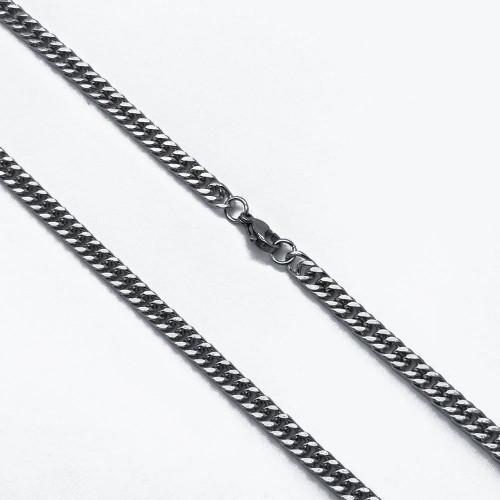 Стальная цепочка унисекс на шею плетение панцирь 5 мм/60 см