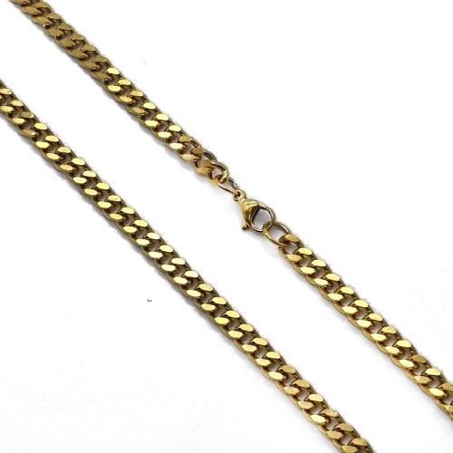 Модная мужская цепь из стали панцирное плетение 60 см/5 мм