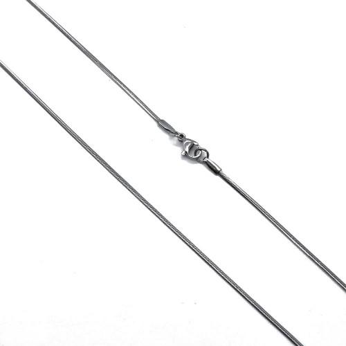 Цепочка стальная плетение снейк женская 50 см/3 мм