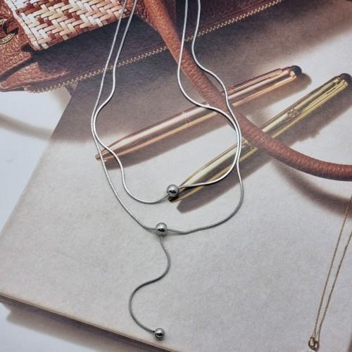 Женская подвеска в два слоя из ювелирной стали