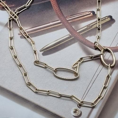 Модная двойная подвеска для женщин из ювелирной стали Овал