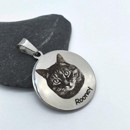 Адресник медальон для собак и кошек