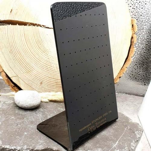 Стенд для сережек черный широкий на 50 пар