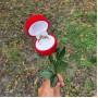Подставка-упаковка для колец в виде розы купить №5