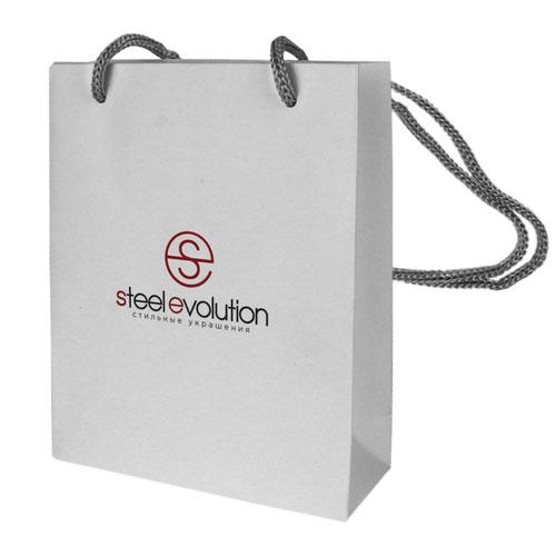 Брендовый подарочный пакет с текстильными ручками S(13х16 см) L(25x18см)