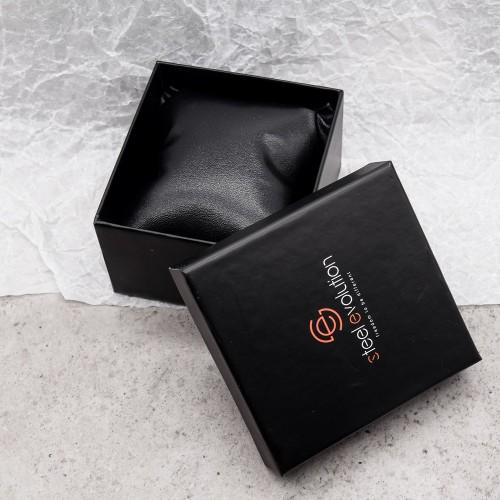 Кожаный браслет для мужчины из медицинской стали