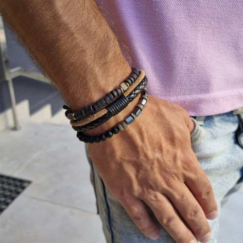 Набор браслетов для мужчины Стиляга