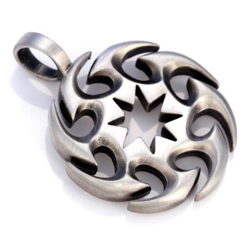 Круглый металлический кулон для мужчин Sesa Bico