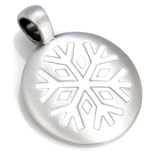 Круглый кулон Снегопад Bico Snow Falling