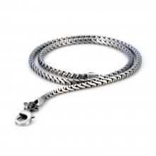 Стильная цепочка Bico Serpent глянцевая 50 см/4 мм