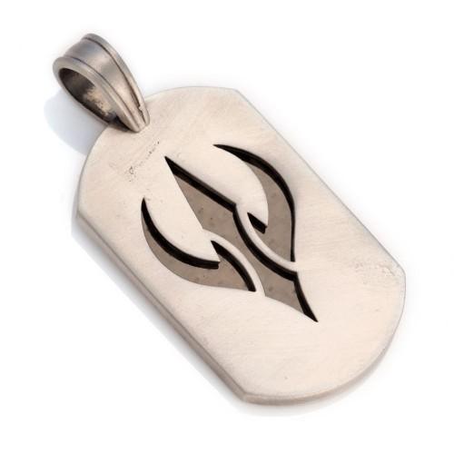 Солдатский жетон с карбоновой вставкой BICO STRIKER
