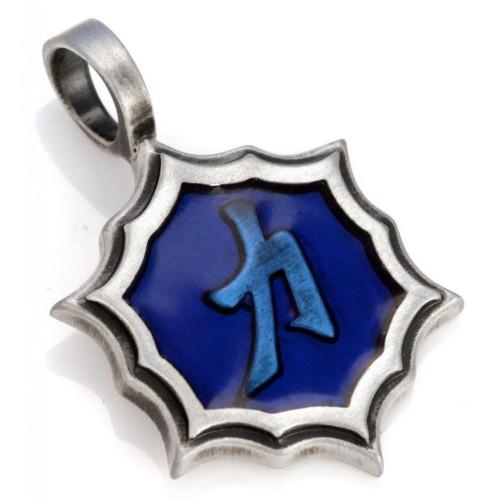 Энергетическая подвеска Иероглиф SHENG MING Blue