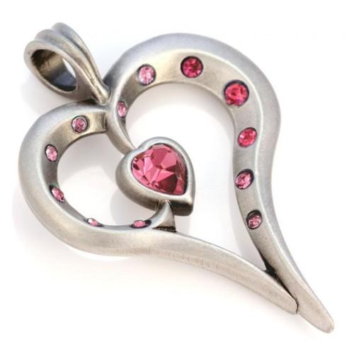 Подвеска сердце с кристаллами Swarovski Bico Romy