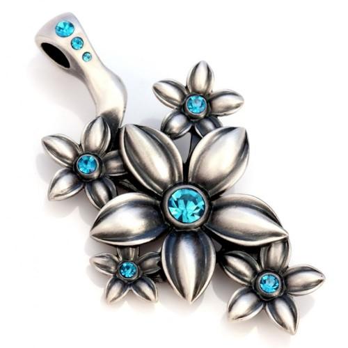 Подвеска цветок с кристаллами Swarovski