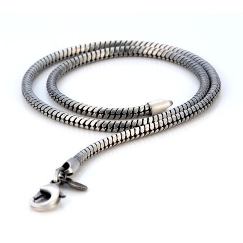 Мужская цепочка из металла Bico Serpent 4 мм