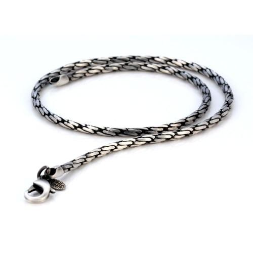 Мужская цепь из гипоаллергенного металла Bico Cyclone 4 мм