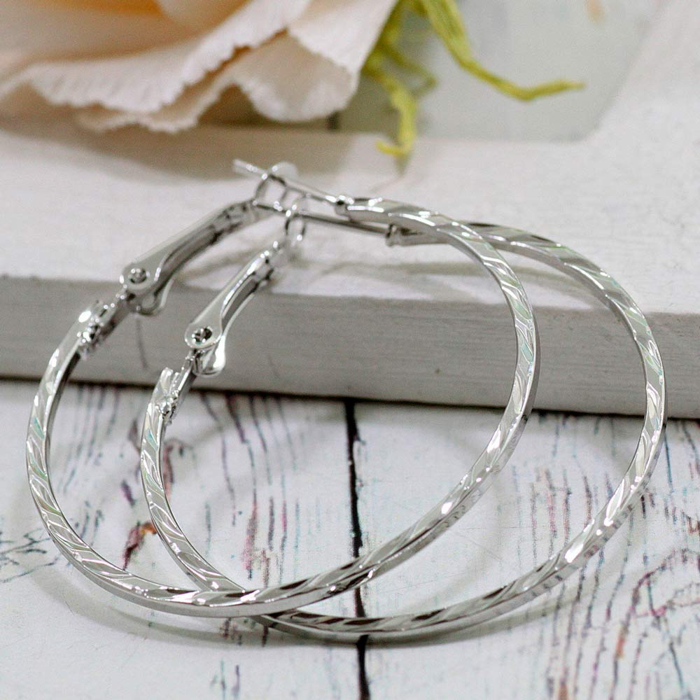 Стальные серьги кольца конго
