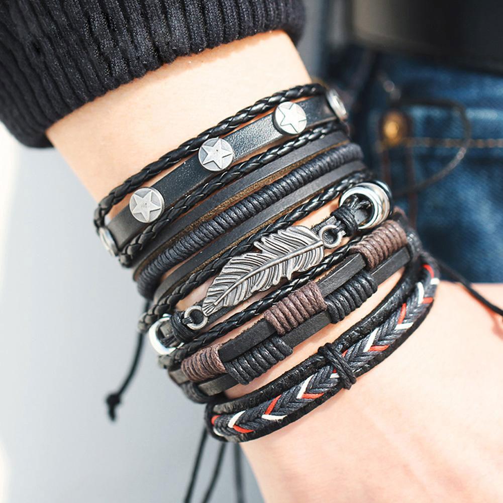 Плетеные женские браслеты, браслеты-обереги, фенечки из кожи
