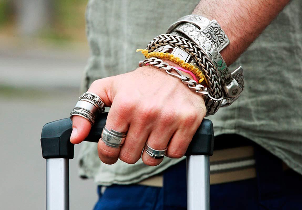 Стальные браслеты для мужчин